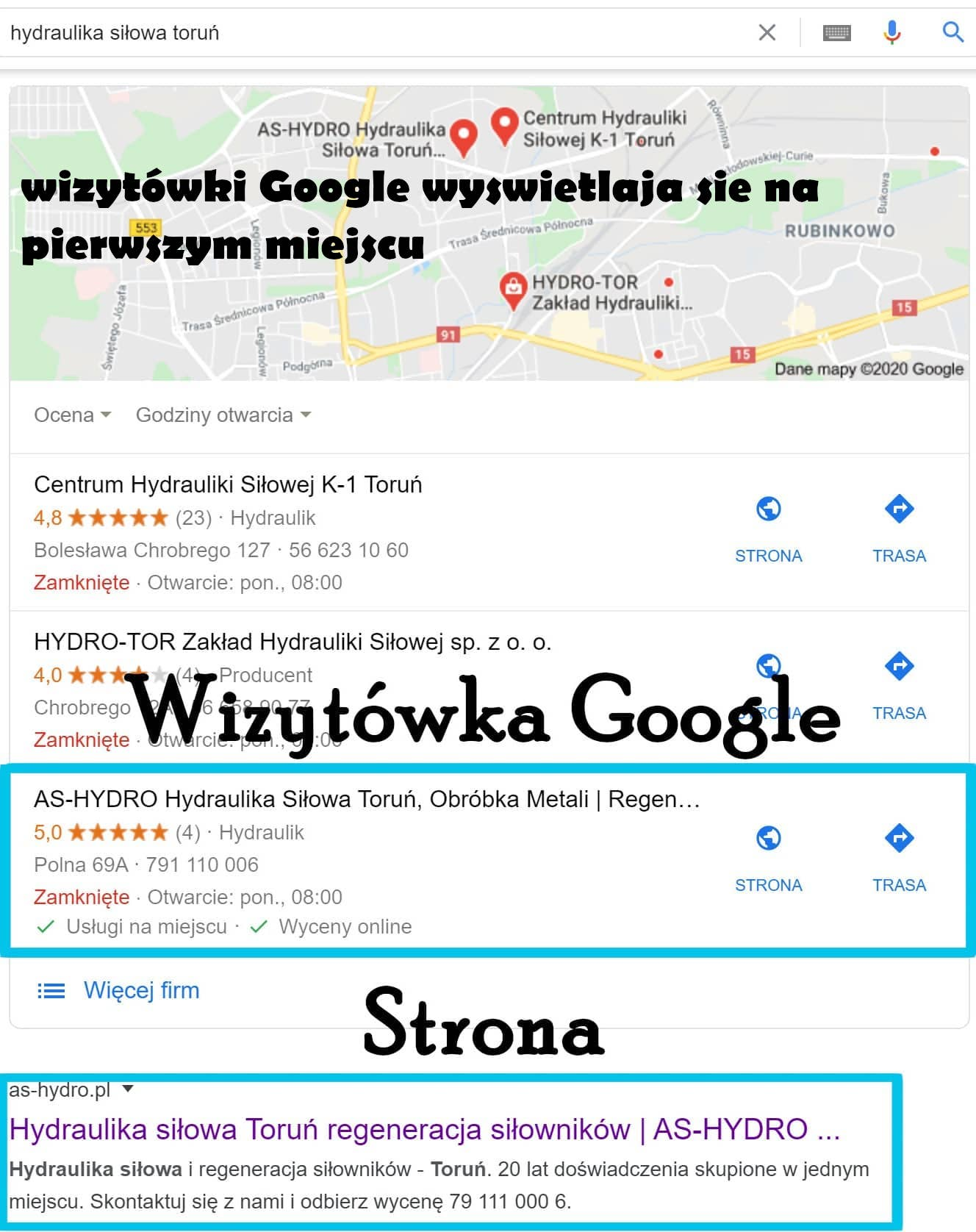 wizytówka Toruń